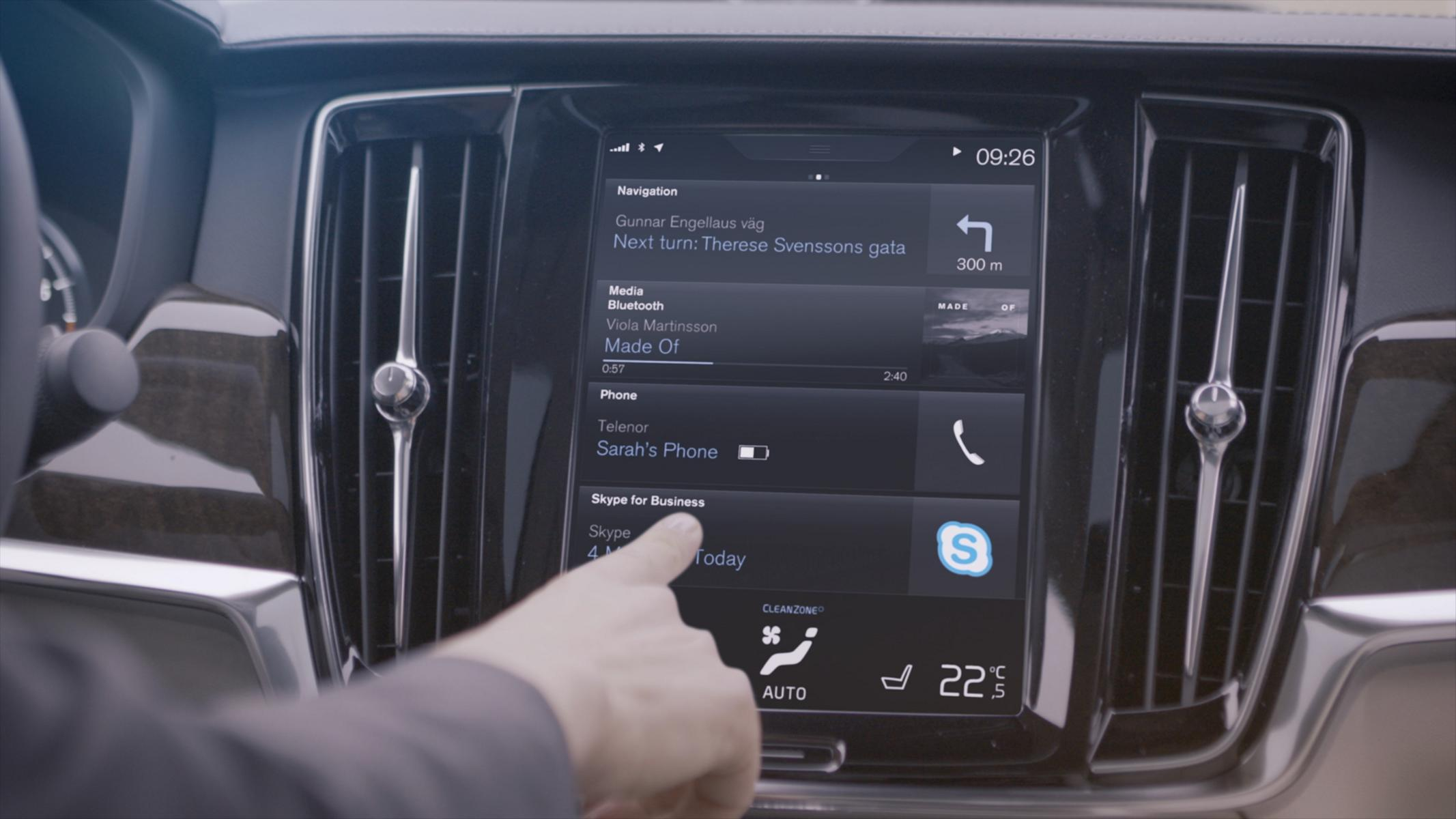 K1600 201912 Skype for Business von Microsoft in der Volvo 90er Baureihe