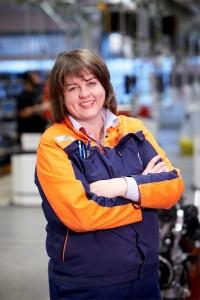 K1600 219343 Lena Bergqvist Plant Manager im Volvo Motorenwerk in Sk vde Schweden