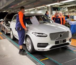 K1600 155257 Pre production of the all new Volvo XC90 in Torslanda