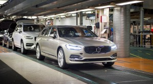 K1600 193268 Start of production of new Volvo V90 premium estate
