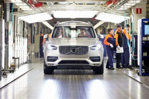 K1600 156784 First series produced new Volvo XC90 rolls off the line at Torslanda plant