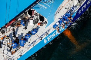 K1600 216357 Volvo Ocean Race 2017 18 Vestas 11th Hour Racing gewinnt Auftaktetappe