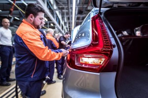 K1600 216919 Pre production of the new Volvo XC40 in the manufacturing plant in Ghent