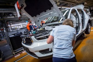 K1600 216922 Pre production of the new Volvo XC40 in the manufacturing plant in Ghent