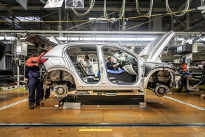 K1600 216924 Pre production of the new Volvo XC40 in the manufacturing plant in Ghent