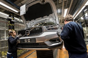 K1600 216925 Pre production of the new Volvo XC40 in the manufacturing plant in Ghent