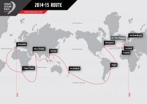 K1600 151612 Volvo Ocean Race 2014 2015 Die Route