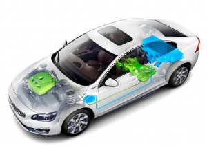 K1600 143391 Volvo S60L PPHEV Petrol Plug in Hybrid Electric Vehicle Concept Car