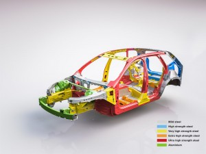 K1600 205097 The new Volvo XC60 Body structure with text
