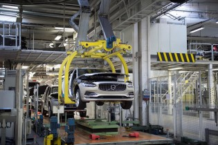 K1600 193266 Start of production of new Volvo V90 premium estate