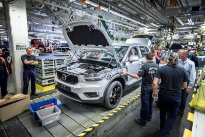 K1600 216918 Pre production of the new Volvo XC40 in the manufacturing plant in Ghent